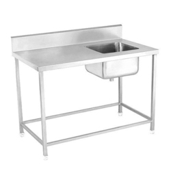 SS Single Sink Unit with Working Table