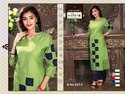 Chanderi Silk Straight Designer Partywear Kurti