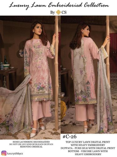 cd27129bfd Luxury Lawn Vol 7 By CS Digital Print Pakistani Pure Collection By Salwar  Kameez