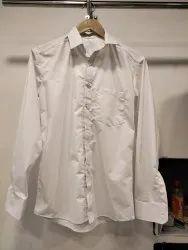 Full Sleeve Men White Plain Shirt