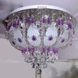 LED Brass Crystal Hanging Chandelier