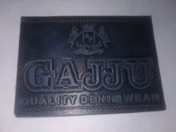 Black Rexine Embossed Label, For Jeans, Packaging Type: Packet