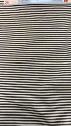 Striped 35inch Black Lining Fabric