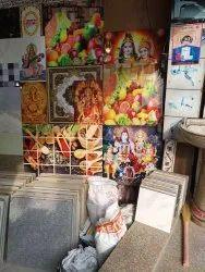 Multicolor Digital Printing God Prints Tiles, Thickness: 6 - 8 mm