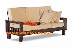 Cushion Back Wooden Sofa