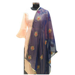 Chiffon Patch work dupatta