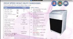 Avanti High speed heavy duty shredders