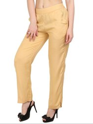 Beige Ankle Length Palazzo Pants