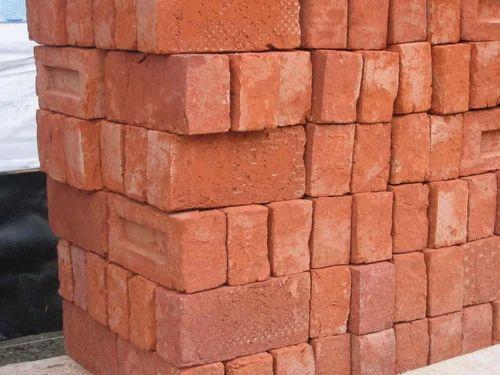 Rectangular Hand Made Redclay brick, Size: 9*4*3