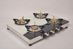 Surya Care/ Sunstar Black & White 4 Burner Gas Stove