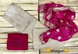 Chanderi Unstitched Dress Material