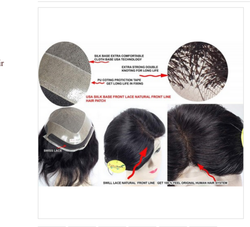 9x7 Inch Human Hair Front Lace