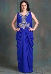 Royal Blue Maxi Style Kaftan