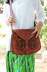 Ladies Leather Bag, Vintage Leather Bag, Tote Bag, Handbag, Shoulder Bag, Cross body Bag