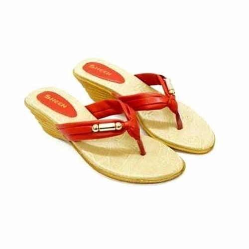 Sheen Ladies Trendy Mid Heel Chappal