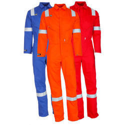 Orange, Red And Blue Polyester Industrial Worker Uniform, Size: Medium