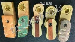 NEW Folding Wooden Pipe Smoking Pipe