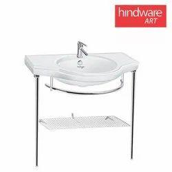 White Ceramic Pedestal Wash Basin