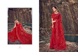 Breathtaking Net Embroidered Party Wear Saree