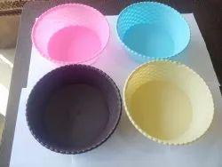 Rose Plastic Fruit Bowl