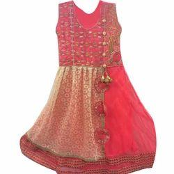 Net Embroidery Girls Churidar