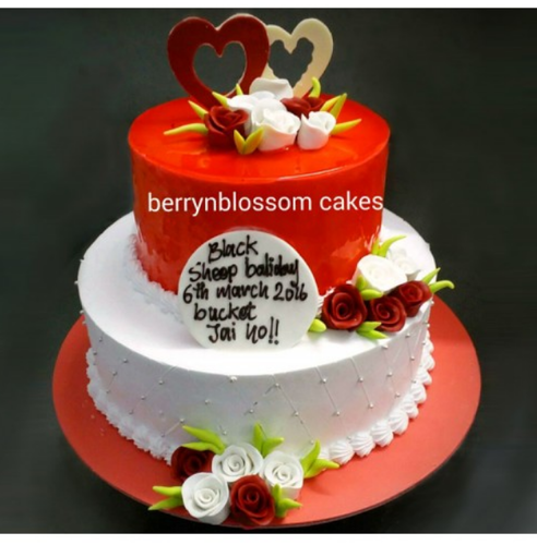 25kg 2 Tier Cake at Rs 2175 piece Wedding And Anniversary Cakes
