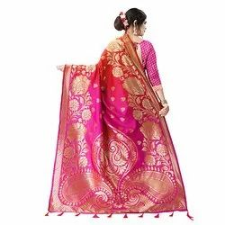 J29 Festive Wear Khadi Silk Saree