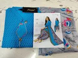 Cotton Stitched Pranjul Readymade Chudidar Suit, Machine wash