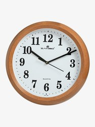 Zanibo Analog 2035 Wooden Wall Clock, For Home, Size: 320x320 Mm