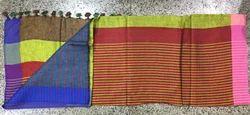 Linen Mehroon Traditional Saree