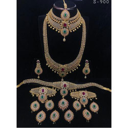 American Diamond Bridal Antique Jewellery Set