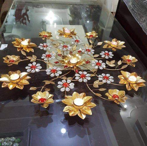 Aakarshan handicrafts Modern Metal Rangoli, Size/Dimension: 18 Inch,24 Inch