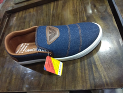 Blue Daily Wear Gents Canvas Shoes, Size: 7*10
