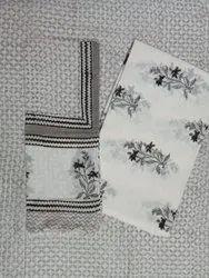 Floral Hand Block Print Jaipuri Suit Set