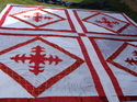 White & Red Ceiling Tent