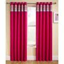 Pink Designer Curtain, For Window