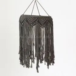Macrame New Design Black Lampshade