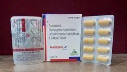 Paracetamol, Phenylephrine Hydrochloride And Diphenhydramine Hydrochloride And Caffeine Tablets