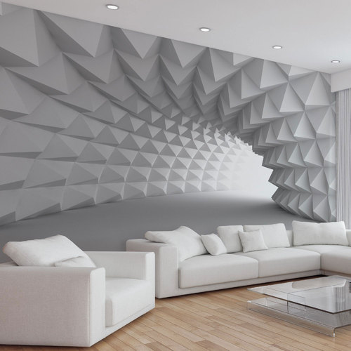 Grey Color Abstract 3D Interior Wallpaper, Rs 75 /square