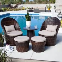 Wicker Outdoor Bistro Sets