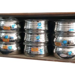 Silver Round Jyoti Special Steel Bowl for Home