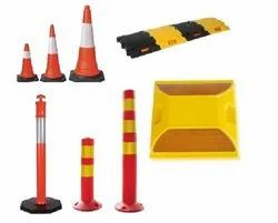 Road Safety Products like Cones, Bollards, Spring Posts, Speed Breakers, etc