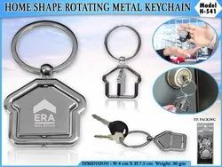 Silver Home shape Keychain, Model Name/Number: H-541, Size: Standard