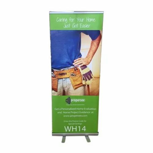 L Banner Standee, Size: 2.5x6 Feet