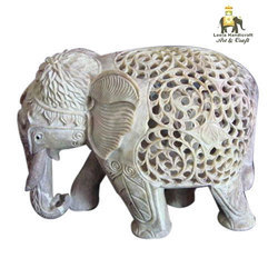 Soap Stone Simple Elephant Statue