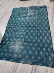 Green And White Vintage Kantha Quilt