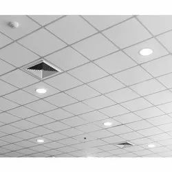 Galvanized steel White Ceiling Grid, Thickness: 5-10 mm