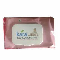 Non Woven Kara Baby Cleansing Wipes, Packaging Size: 80 Wipes, 0-3 Years