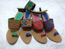 Colorful Stylish Kolhapuri Chappals