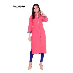 Casual Ladies Pink Kurti